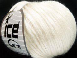 Lot of 8 Skeins Ice Yarns ROCKABILLY (67% Tencel) Hand Knitting Yarn Ecru