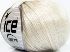 Lot of 8 Skeins Ice Yarns ROCKABILLY (67% Tencel) Yarn Light Beige