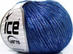 Lot of 8 Skeins Ice Yarns ROCKABILLY (67% Tencel) Hand Knitting Yarn Dark Blue