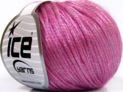 Lot of 8 Skeins Ice Yarns ROCKABILLY (67% Tencel) Hand Knitting Yarn Fuchsia
