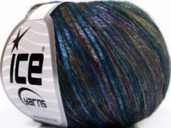 Lot of 8 Skeins Ice Yarns ROCKABILLY COLOR (67% Tencel) Yarn Turquoise Khaki Purple