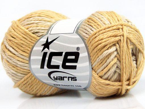 Lot of 8 Skeins Ice Yarns SKY COTTON (100% Cotton) Yarn Beige Camel Light Cream