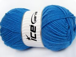 Lot of 4 x 100gr Skeins Ice Yarns MERINO GOLD (60% Merino Wool) Yarn Blue