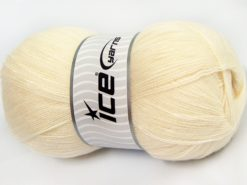 Lot of 4 x 100gr Skeins Ice Yarns KRISTAL Hand Knitting Yarn Light Cream