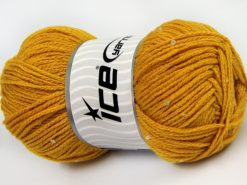 Lot of 4 x 100gr Skeins Ice Yarns CHAIN PAILLETTE (2% Paillette) Yarn Gold