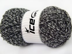 Lot of 4 x 100gr Skeins Ice Yarns Bulky ATLAS Hand Knitting Yarn Black White