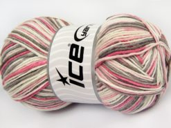 Lot of 4 x 100gr Skeins Ice Yarns LORENA COLOR (50% Cotton) Yarn Camel Cream Pink