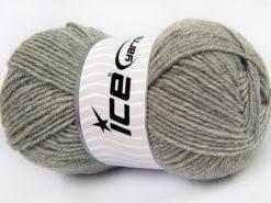 Lot of 4 x 100gr Skeins Ice Yarns MERINO GOLD LIGHT (60% Merino Wool) Yarn Light Grey