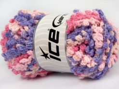 Lot of 4 x 100gr Skeins Ice Yarns BOUCLERON CHAIN Yarn Pink Shades Lilac