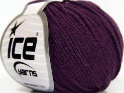 Lot of 8 Skeins Ice Yarns BABY MODAL (55% Modal) Hand Knitting Yarn Maroon