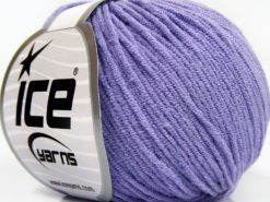Lot of 8 Skeins Ice Yarns BABY MODAL (55% Modal) Hand Knitting Yarn Lilac