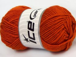 Lot of 8 Skeins Ice Yarns ELITE BABY Hand Knitting Yarn Orange