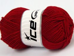 Lot of 8 Skeins Ice Yarns ELITE BABY Hand Knitting Yarn Red