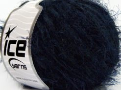 Lot of 8 Skeins Ice Yarns TECHNO CHENILLE WORSTED (60% MicroFiber) Yarn Navy