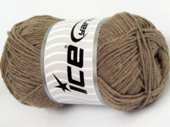 Lot of 4 x 100gr Skeins Ice Yarns NATURAL COTTON WORSTED (100% Cotton) Yarn Light Camel
