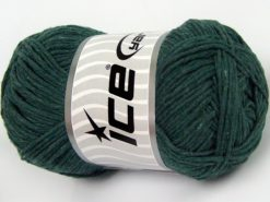 Lot of 4 x 100gr Skeins Ice Yarns NATURAL COTTON WORSTED (100% Cotton) Yarn Dark Green