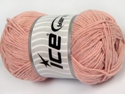 Lot of 4 x 100gr Skeins Ice Yarns NATURAL COTTON WORSTED (100% Cotton) Yarn Baby Pink