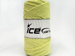 250 gr ICE YARNS NATURAL COTTON JUMBO (100% Cotton) Yarn Light Green
