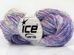 Lot of 3 x 100gr Skeins Ice Yarns SPRAY PAINT (40% Cotton) Yarn Lilac Shades