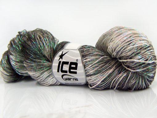 Lot of 3 x 100gr Skeins Ice Yarns SPRAY PAINT (40% Cotton) Yarn Black Light Pink Beige Green