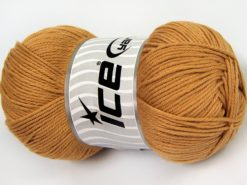 Lot of 4 x 100gr Skeins Ice Yarns BABY COTTON 100GR (100% Giza Cotton) Yarn Light Brown
