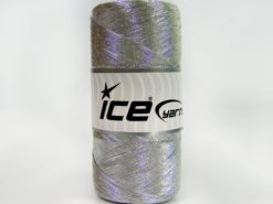 Lot of 2 x 200gr Skeins Ice Yarns METALLIC COTTON (30% Cotton) Yarn Silver