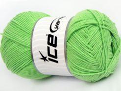 Lot of 4 x 100gr Skeins Ice Yarns LORENA (50% Cotton) Yarn Light Green