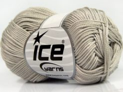 Lot of 6 Skeins Ice Yarns GIZA COTTON Hand Knitting Yarn Light Grey