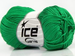 Lot of 6 Skeins Ice Yarns GIZA COTTON Hand Knitting Yarn Green