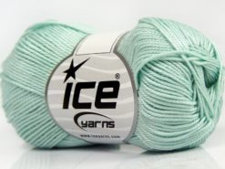 Lot of 6 Skeins Ice Yarns GIZA COTTON Hand Knitting Yarn Water Green