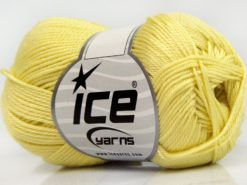 Lot of 6 Skeins Ice Yarns GIZA COTTON Hand Knitting Yarn Light Yellow