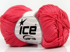 Lot of 6 Skeins Ice Yarns GIZA COTTON Hand Knitting Yarn Light Salmon