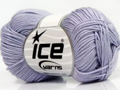 Lot of 6 Skeins Ice Yarns GIZA COTTON Hand Knitting Yarn Light Lilac