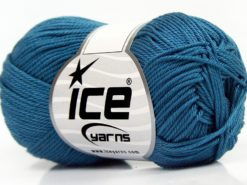 Lot of 6 Skeins Ice Yarns GIZA COTTON (100% Mercerised Giza Cotton) Yarn Indigo Blue