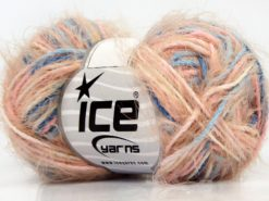 Lot of 8 Skeins Ice Yarns PRIMAVERA Hand Knitting Yarn Pink Shades Blue Shades