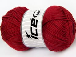 Lot of 4 x 100gr Skeins Ice Yarns BABY COTTON 100GR (100% Giza Cotton) Yarn Dark Red