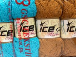 Lot of 4 x 100gr Skeins Ice Yarns Flamenco SCARF YARNS MIXED LOT Scarf Yarn Multicolor
