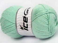 Lot of 4 x 100gr Skeins Ice Yarns LORENA (50% Cotton) Yarn Light MintGreen