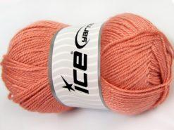 Lot of 4 x 100gr Skeins Ice Yarns DORA Hand Knitting Yarn Light Salmon