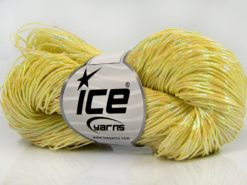 Lot of 3 x 100gr Skeins Ice Yarns HAND PAINTED COTTON (40% Cotton) Yarn Yellow