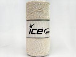 Lot of 2 x 200gr Skeins Ice Yarns SHINY COTTON (30% Cotton) Yarn Ecru