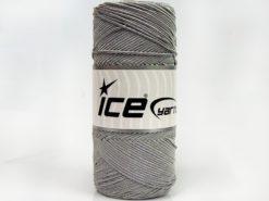 Lot of 2 x 200gr Skeins Ice Yarns SHINY COTTON (30% Cotton) Yarn Light Grey