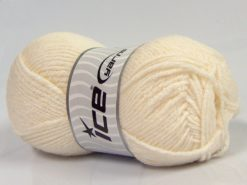 Lot of 4 x 100gr Skeins Ice Yarns NATURAL BABY (10% Bamboo 14% Cotton) Yarn Ecru Cream