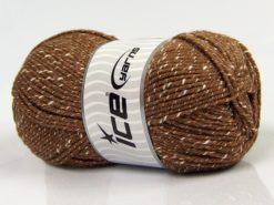 Lot of 4 x 100gr Skeins Ice Yarns NATURAL BABY (10% Bamboo 14% Cotton) Yarn Light Brown Cream