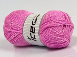 Lot of 4 x 100gr Skeins Ice Yarns NATURAL BABY (10% Bamboo 14% Cotton) Yarn Candy Pink Cream