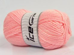 Lot of 4 x 100gr Skeins Ice Yarns NATURAL BABY (10% Bamboo 14% Cotton) Yarn Pink Cream