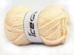 Lot of 4 x 100gr Skeins Ice Yarns MOHAIR BULKY (5% Mohair 10% Wool) Yarn Dark Cream