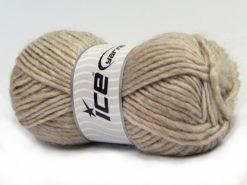 Lot of 4 x 100gr Skeins Ice Yarns MOHAIR BULKY (5% Mohair 10% Wool) Yarn Light Camel