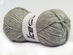 Lot of 4 x 100gr Skeins Ice Yarns MOHAIR BULKY (5% Mohair 10% Wool) Yarn Light Grey