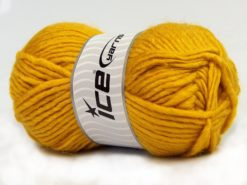 Lot of 4 x 100gr Skeins Ice Yarns MOHAIR BULKY (5% Mohair 10% Wool) Yarn Gold